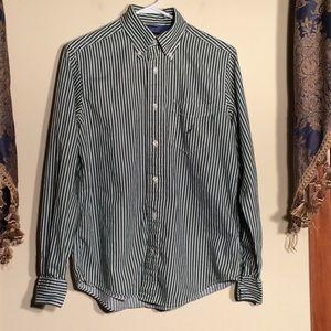 Nautica S Men's Shirt. Green and White